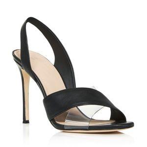 NEW Pour La Victoire Elly Leather Slingback Heels